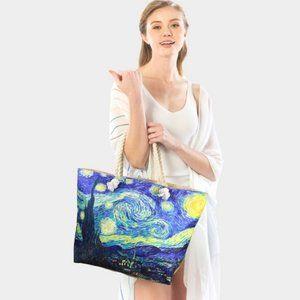 Vincent Van Gogh Starry Night print tote bag